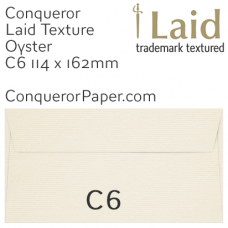 Envelopes Laid Oyster C6-114x162mm 120gsm