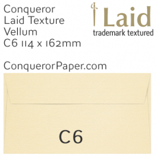 Envelopes Laid Vellum C6-114x162mm 120gsm