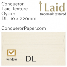 Envelopes Laid Oyster Window DL-110x220mm 120gsm