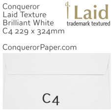 Envelopes Laid Brilliant White Pocket C4-324x229mm 120gsm