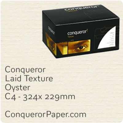 Envelopes Laid Oyster C4-324x229mm 120gsm