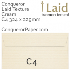 Envelopes Laid Cream C4-324x229mm 120gsm