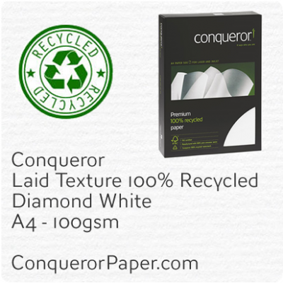 Recycled Paper Laid Diamond White A4-210x297mm 100gsm