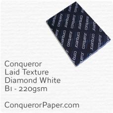 Paper Laid Diamond White B1-700x1000mm 220gsm