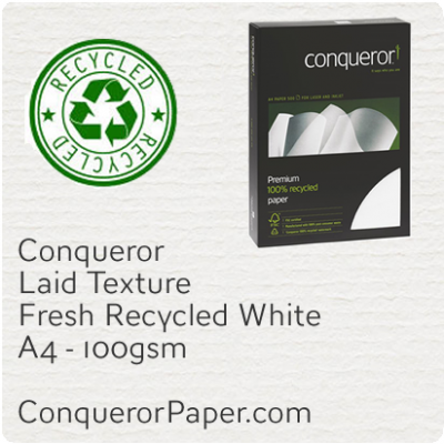 Recycled Paper Laid Fresh White A4-210x297mm 100gsm