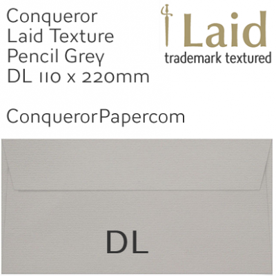 Envelopes Laid Pencil Grey DL-110x220mm 120gsm