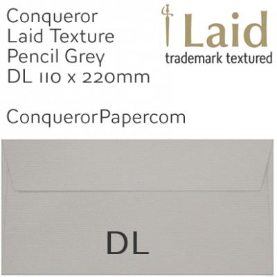 Envelopes Laid Pencil Grey DL-110x220mm 120gsm