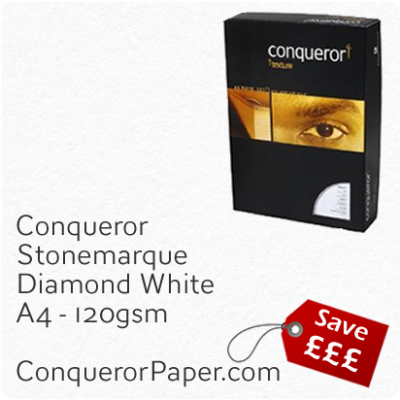 Paper Stonemarque Diamond White A4-210x297mm 120gsm