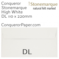 Envelopes Stonemarque High White DL-110x220mm 120gsm