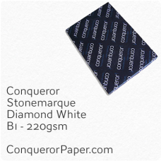 Paper Stonemarque Diamond White B1-700x1000mm 220gsm