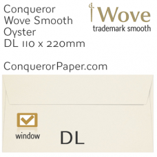 Envelopes Wove Oyster Window DL-110x220mm 120gsm