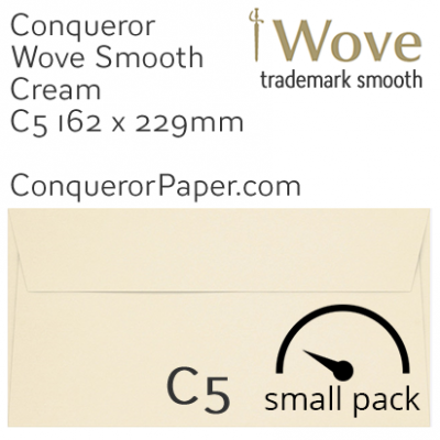 Envelopes Wove Cream C5-162x229mm 120gsm 50 Pack