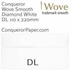 Envelopes Wove Diamond White DL-110x220mm 120gsm