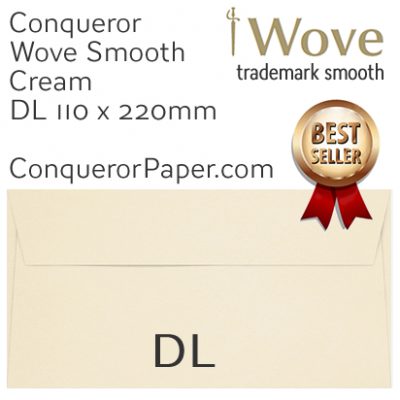 Envelopes Wove Cream DL-110x220mm 120gsm