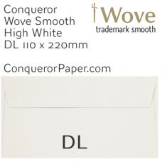 Envelopes Wove High White DL-110x220mm 120gsm
