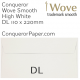 Envelopes Wove High White DL-110x220mm 120gsm