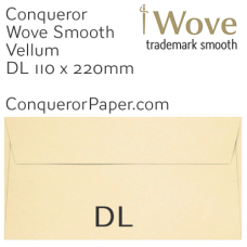 Envelopes Wove Vellum DL-110x220mm 120gsm