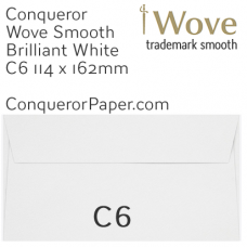 Envelopes Wove Brilliant White C6-114x162mm 120gsm