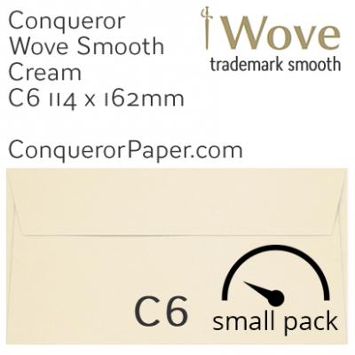 Envelopes Wove Cream C6-114x162mm 120gsm 50 Pack