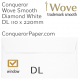 Envelopes Wove Diamond White Window DL-110x220mm 120gsm