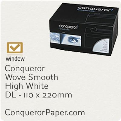 Envelopes Wove High White Window DL-110x220mm 120gsm