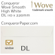 Envelopes Wove High White Window DL-110x220mm 120gsm