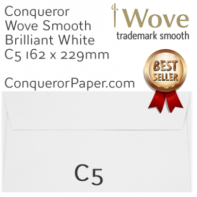 Envelopes Wove Brilliant White C5-162x229mm 120gsm
