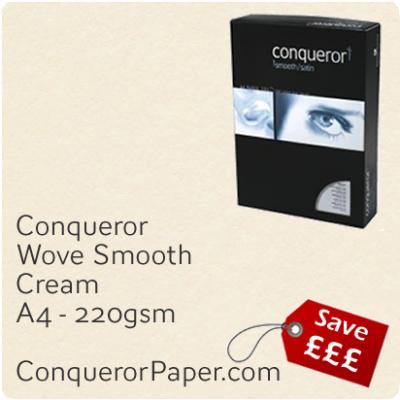 Paper Wove Cream A4-210x297mm 220gsm