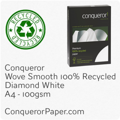 Paper Wove Diamond White A4-210x297mm 100gsm Recycled