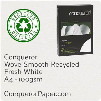 Paper Wove Fresh White A4-210x297mm 100gsm Recycled