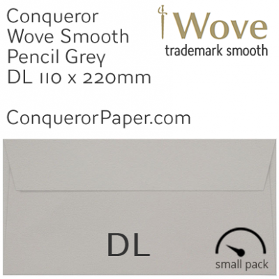 Envelopes Wove Pencil Grey DL-110x220mm 120gsm 50 Pack