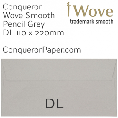 Envelopes Wove Pencil Grey DL-110x220mm 120gsm